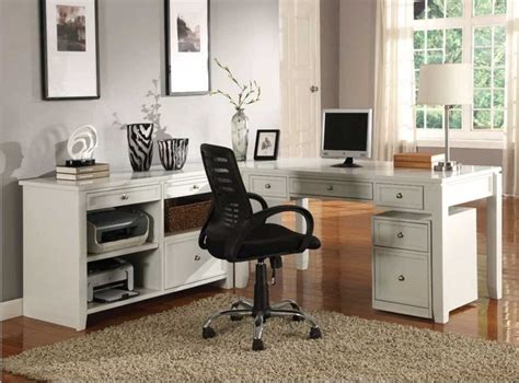 Home Workstations Furniture Modular Home Office Furniture Collections With White Color