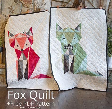 fox pattern pinterest free fox quilt pattern shwin shwin twins quilting