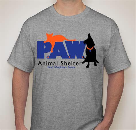 design t shirt fundraiser p a w animal shelter t shirt fundraiser custom ink