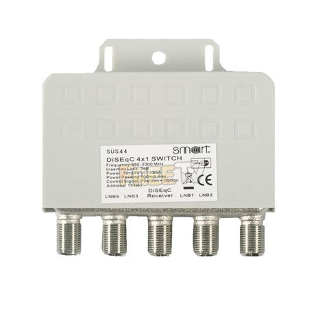 Disceq 4x1 smart 4x1 diseqc switch for combining 4 satellite dishes