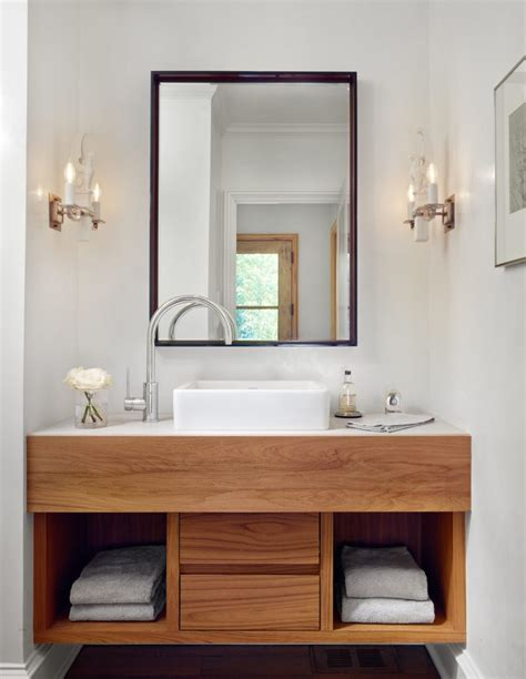 White Wood Bathroom Vanity by Wood Bathroom Vanities Centsational Style