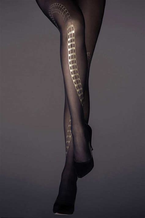 gold patterned sheers leg band print patterned sheer tights black and gold