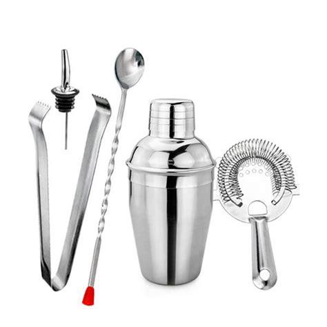 Bartender Tools Bartender Kit Mixology Barware Tools Cocktail Drink 5 Pcs