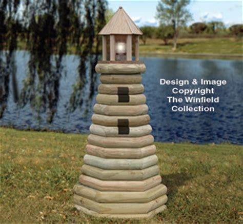 structure woodworking plans landscape timber lighthouse
