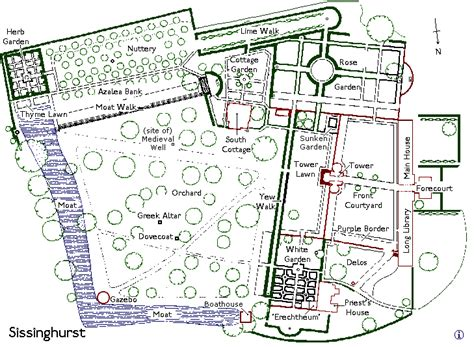 Medieval Manor House Floor Plan Sissinghurst Castle Garden
