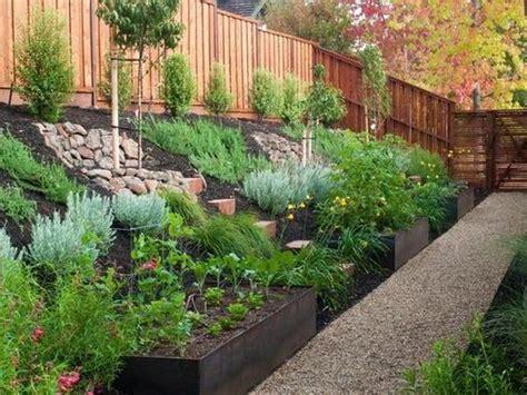 landscape design ideas for sloped backyard backyard
