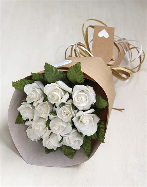 anniversary gift bouquet paper roses 1st wedding