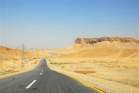 syrian desert road through the syrian desert leaving palmyra photo
