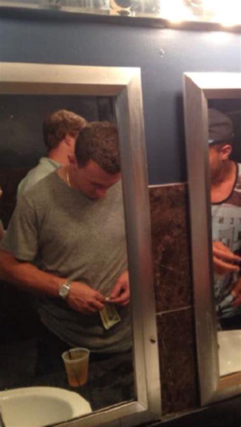 Johnny Bathroom Song by Photo Johnny Manziel Rolling Money In Vegas Bathroom Bso