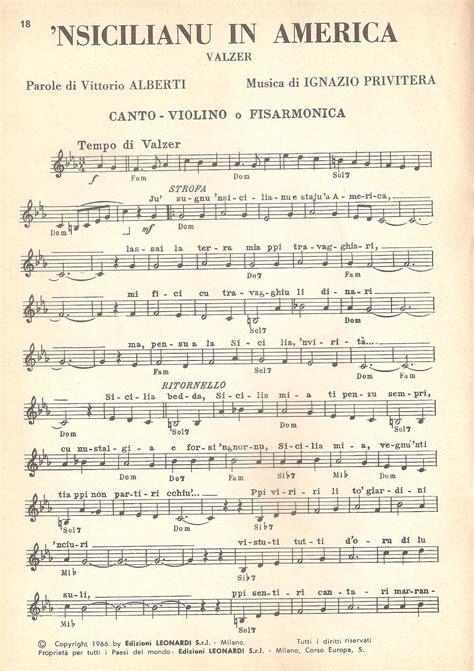 testo america sicilia musica folk canti siciliani testi nsicilianu in