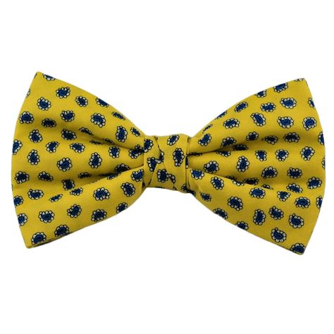 Yellow Pattern Bow Tie | plain bright yellow bow tie from ties planet uk