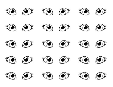 free coloring pages of child eyes