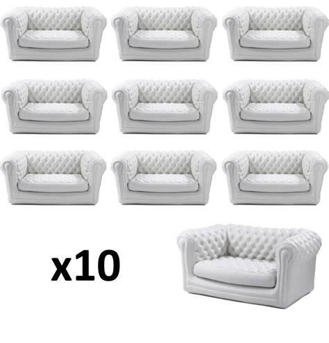 canapé gonflable chesterfield location canap 233 blanc chesterfield gonflable