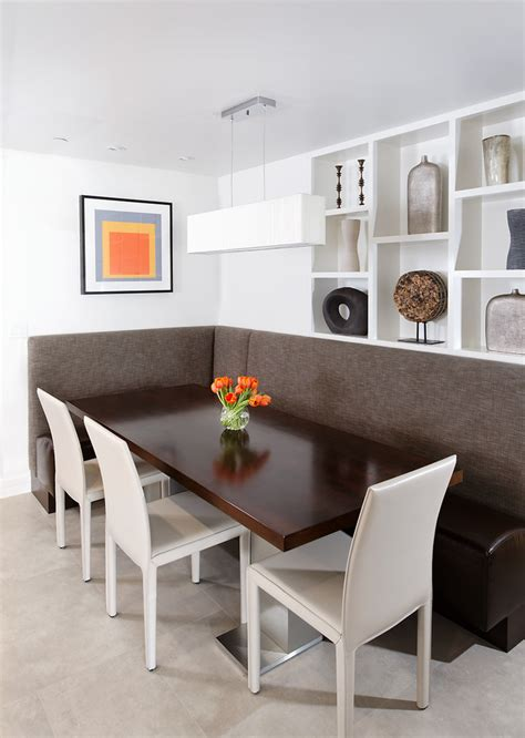 dining room booths contemporary aspen condo gets a chic makeover
