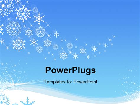 best photos of snowflake powerpoint template free