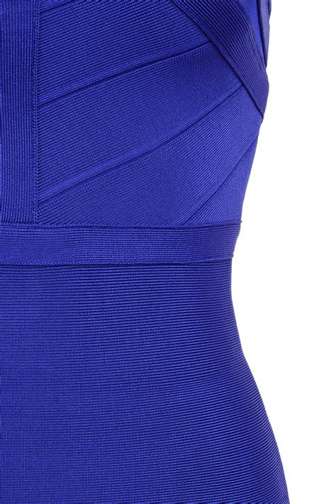 clothing bandage dresses alka blue mesh and
