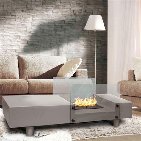 ethanol fireplace coffee table seraphino bioethanol fireplace coffee table white buy