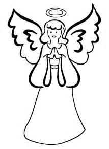 free printable christmas angel colouring pages