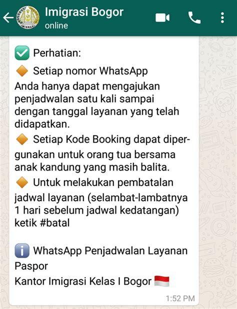 pembuatan paspor online imigrasi bandung cara membuat paspor anak lewat antrian whatsapp ternyata