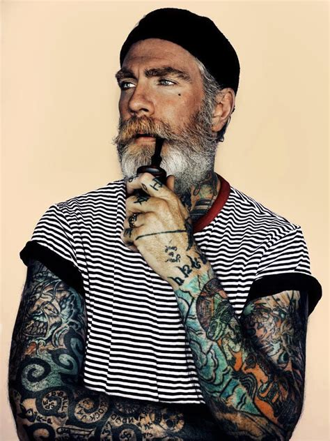 beards and tattoos i want this to be my grandfather inking up my