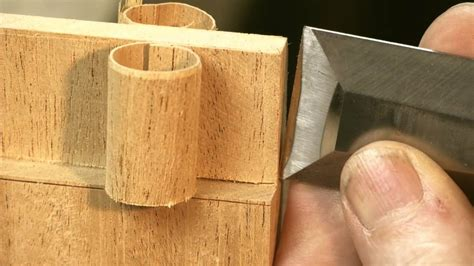 utube woodworking chisel tricks for cut joinery