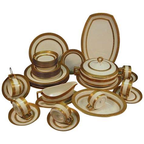 dinner set porcelain dinner set for 6 35 piece gold encrusted