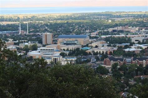 brigham young university byu cus with y mountain and squaw peak in the