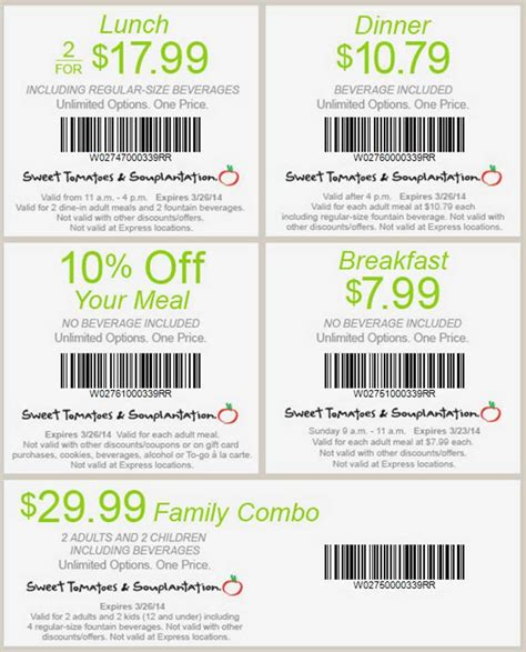 souplantation coupons dinner