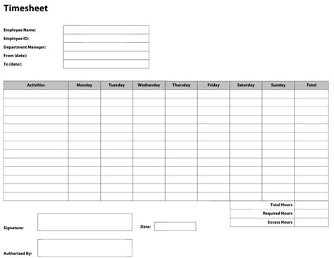 basic time card template free 9 best images of free printable time sheets pdf free