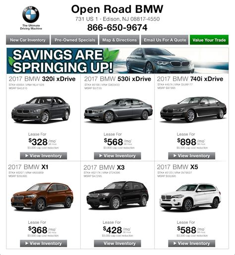 open road bmw of edison new jersey bmw dealers