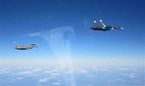 russian air force one royal air force typhoons intercept 10 russian aircraft in