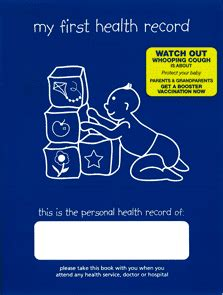 my personal health record books well child health slhd