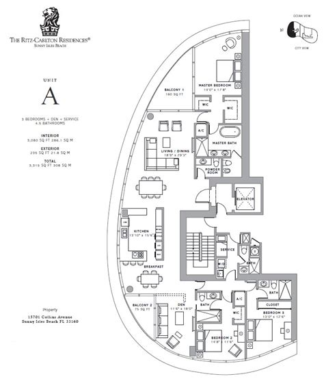 ritz carlton floor plans ritz carlton sunny isles beach 15701 collins ave miami fl