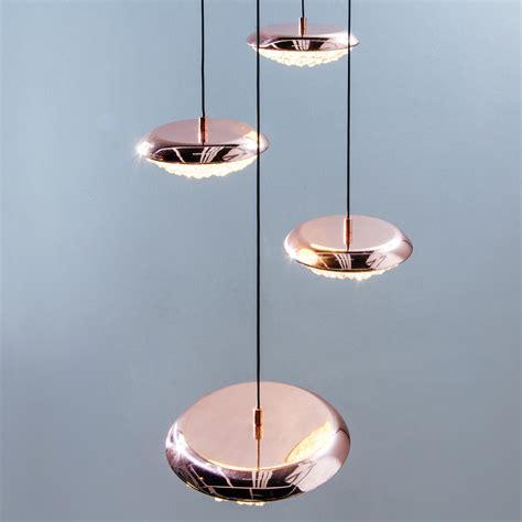 copper and glass pendant light copper swarovski crystal contemporary designer pendant