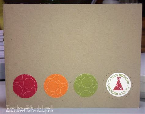 circle punches card birthday card idea with paper scraps ink it up with