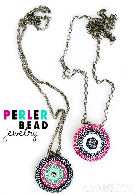 alisaburke fashion friday perler bead jewelry