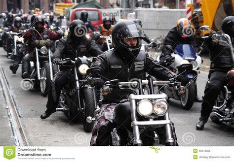 Bikers Brotherhood Bandidos protest of motorcycle clubs oslo editorial photo image