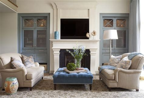 Living Room Cabinets Around Fireplace Built In Cabinets Next To Fireplace Living Room Farmhouse