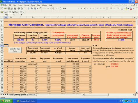 home mortgage calculator excel sheet 4 ways to create a