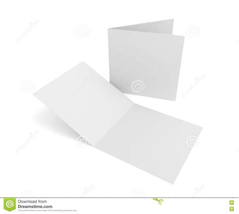 greeting card template for open isolated blank 3d rendering open square greeting cards on