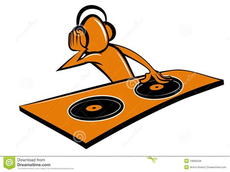 design photo cartoon stylised cartoon dj design stock vector illustration of