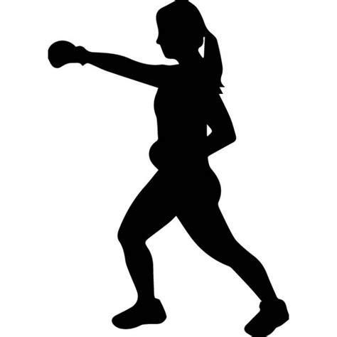 Female Boxer Silhouette Wall Sticker Sport Wall Art