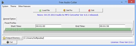 mp3 cutter download free for pc softpedia download free audio cutter 3 0 1