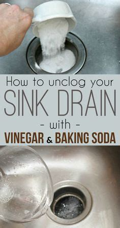 1000 ideas about cleaning sink drains on