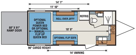 travel trailer toy hauler floor plans quicksilver ultra lightweight toy hauler floorplans photos