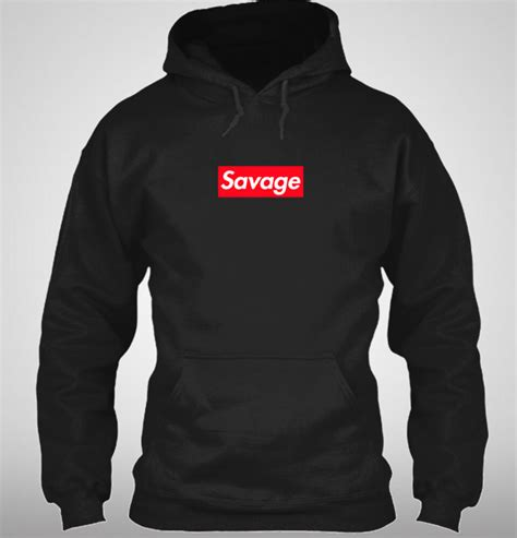 supreme hoodies supreme savage box logo inspired hoodie 21 savage ebay
