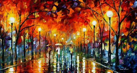 Minyak Fogg the lights palette knife painting on canvas by