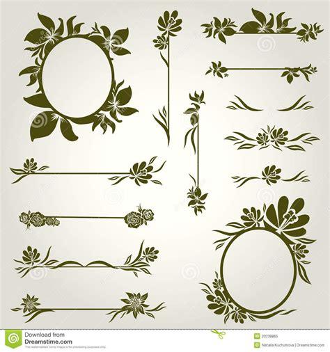 design elements flowers vector set of vintage design elements with flowers royalty