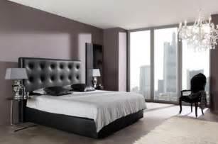 Formidable Idee Deco Chambre Parent #5: chambre-adulte-tête-lit-cuir-noir-capitonné.jpg