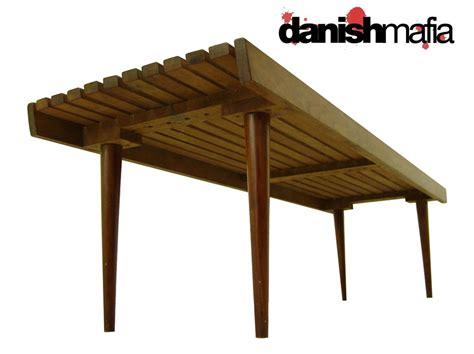 retro bench retro mid century danish modern slat bench coffee table